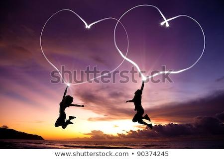 положительный молодые удивительный любящий пару изображение Сток-фото © deandrobot