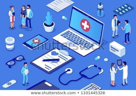 Online orvos minimális infografika szalag vektor Stock fotó © pikepicture
