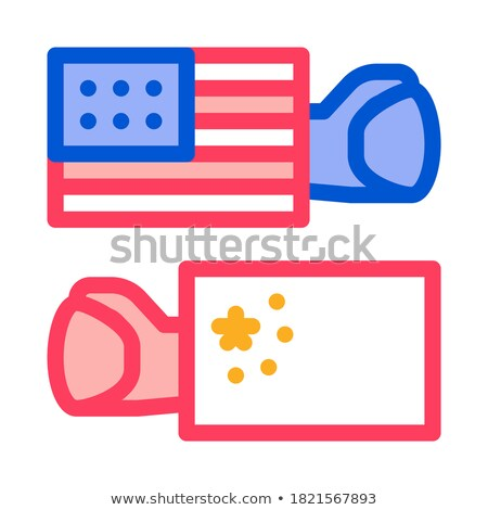 trade war around world icon vector outline illustration Stock photo © pikepicture