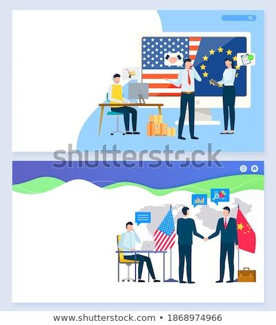 Евросоюз деловое совещание европейский стране Соединенные Штаты человека Сток-фото © robuart