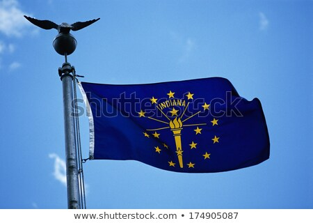 Waving Flag of the State of Indiana Stock photo © nazlisart