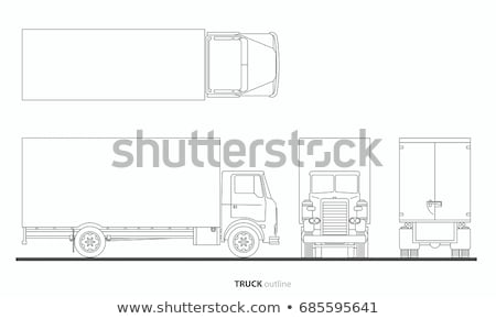 Reporter Truck Icon Vector Outline Illustration Stock photo © pikepicture