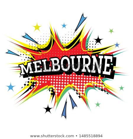 Melbourne cômico texto estilo projeto Foto stock © ShustrikS
