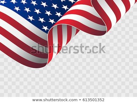 Integet zászlók Egyesült Államok Amerika illusztráció hullámos Stock fotó © designer_things