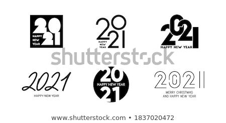Conjunto simples preto calendário ícones dezembro Foto stock © evgeny89