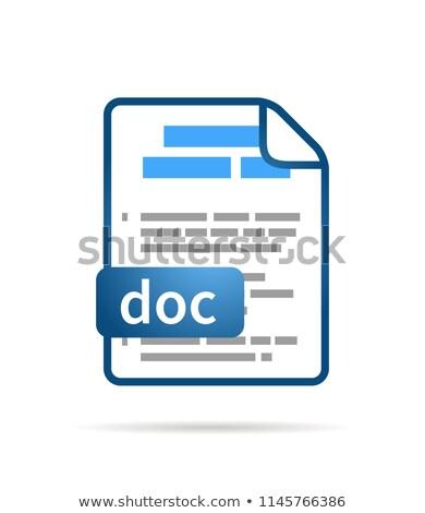 Brillante azul archivo icono doctor blanco Foto stock © evgeny89