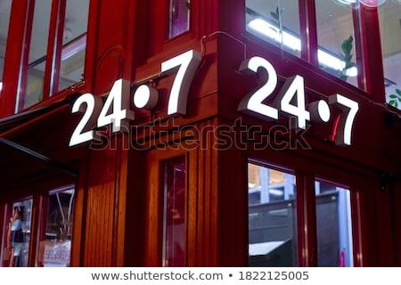Fachada clásico edificio europeo nocturna de la ciudad Foto stock © Anneleven