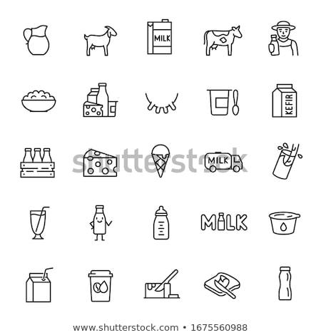 Lácteo granja icono vector ilustración Foto stock © pikepicture