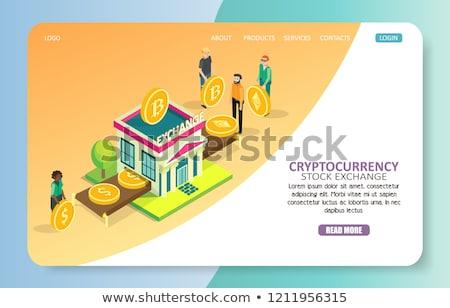 валюта обмена баннер деньги банка Сток-фото © RAStudio