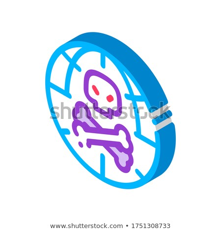 Nyers fej véres csontok izometrikus ikon Stock fotó © pikepicture