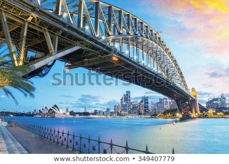sydney harbour bridge at dusk stock photo © mroz