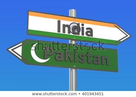 パキスタン · 道路標識 · 緑 · 幹線道路の標識 · 雲 · 通り - ストックフォト © kbuntu