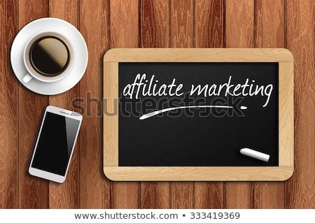 Foto d'archivio: Chalkboard - Affiliate Marketing