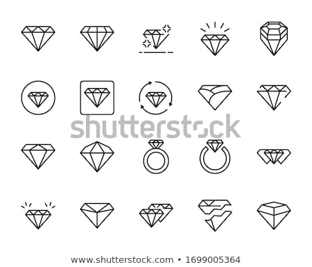 Line Drawing Jewel : Vector diamond set illustration beaubelle