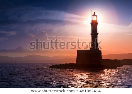 灯台 · 1泊 · 霧 · 高い · 地上 · 家 - ストックフォト © morrbyte