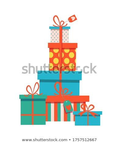 Caixa de presente torre colorido desenho animado caixas de presente natal Foto stock © zsooofija