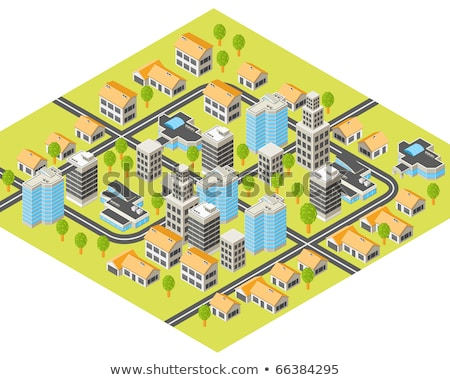 Foto stock: Isometric Map Toolkit Downtown