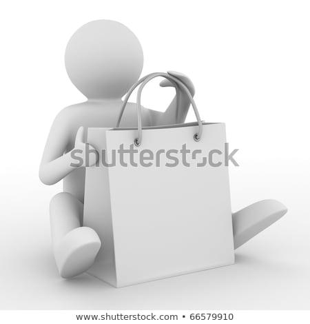 férfi · táska · fehér · izolált · 3D · kép - stock fotó © dacasdo