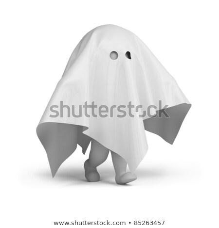 3d small people - ghost costume stock photo © AnatolyM