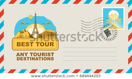 eiffel tower on envelope stock photo © get4net
