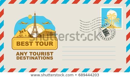 Eiffel · Tower · sello · encajar · marco - foto stock © get4net