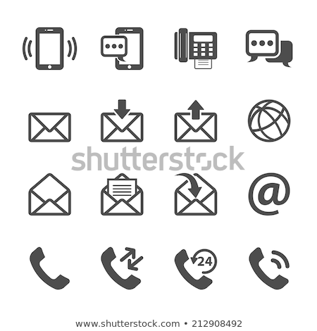send a letter icon   mobile phone stock photo © fenton