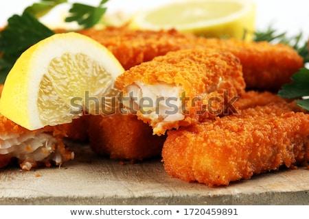 Сток-фото: Fish Fingers And Fries Snack Food
