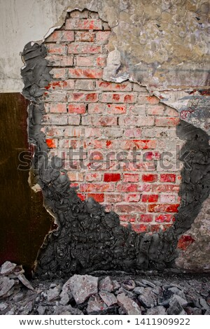 partially demolished concrete and brick worn industrial wall     Stock photo © Melvin07