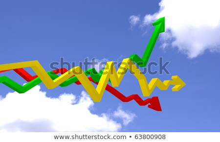 graph show different direction by high move to the sky  Stock photo © rufous