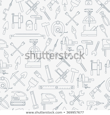 Hardware Tool and Equipment in Group Vector Stock photo © leremy