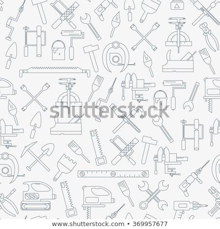 вектора · красный · Инструменты · древесины · промышленности · инструменты - Сток-фото © leremy