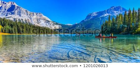 ストックフォト: エメラルド · 湖 · 公園 · カナダ · ツリー · 風景