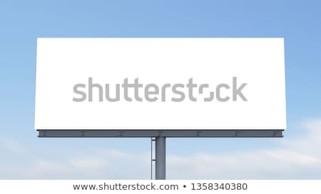 óriásplakát szabadtér égbolt város utca kommunikáció Stock fotó © pkdinkar