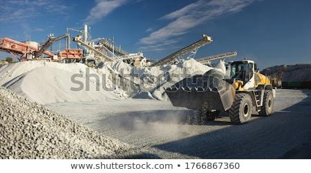 Kotrógép mészkő kövek természet tájkép hegy Stock fotó © deyangeorgiev