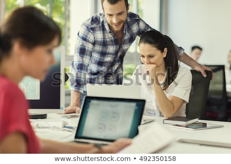 two business peoples at working on laptop Stock photo © stokkete