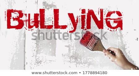 Intimidación escrito blanco tiza pizarra Foto stock © latent