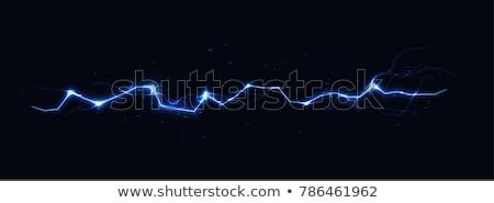Pulzus neon kék elektromos villám fekete Stock fotó © axstokes