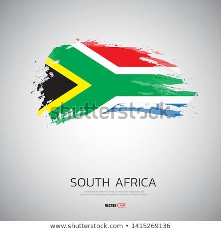 Гранж флаг ЮАР старые Vintage гранж текстур Сток-фото © HypnoCreative
