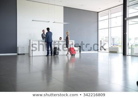 rojo · recepción · moderna · hotel · 3D · imagen - foto stock © kash76