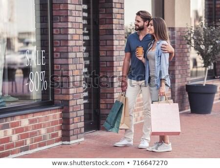 çift dışında adam mutlu alışveriş Stok fotoğraf © photography33
