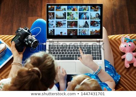 Digitális fotó galéria 3D renderelt illusztráció Stock fotó © Spectral