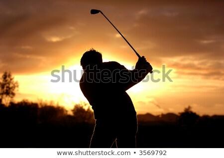 午前 ゴルファー オフ 早朝 光 草 ストックフォト © Sportlibrary