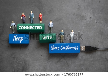 objetivo · clientes · tiza · ilustración · persona · dibujo - foto stock © ansonstock