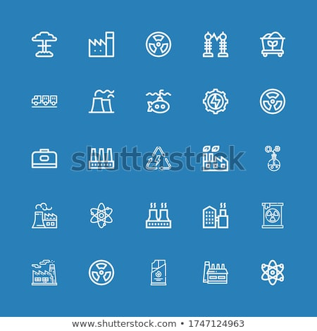 Radioactive icon blue, isolated on white background. Stock photo © zeffss