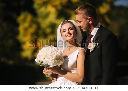 красивой · молодые · невеста · белое · платье · Постоянный · позируют - Сток-фото © alphababy