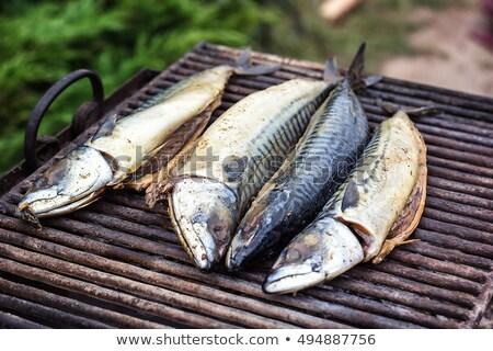 Chub mackerel fried Stock photo © sweetcrisis