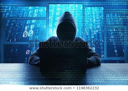 Hacker człowiek wpisując komputera pracy Zdjęcia stock © stevanovicigor