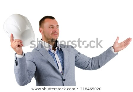 Man with helmet jubilant Stock photo © photography33