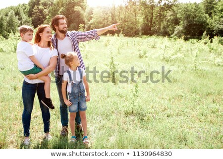 a mother and her son at picnic, the father is fishing Stock photo © photography33