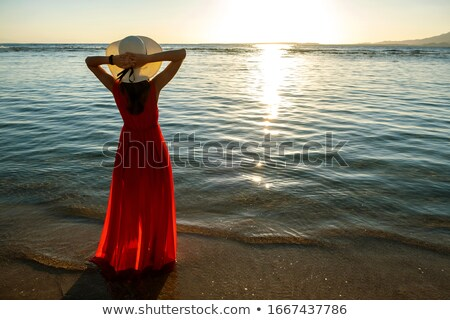 beautiful woman wearing dress stock photo © konradbak